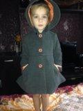 Детское драповое пальто модное. Фото 2.