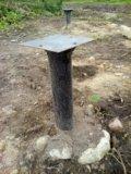 Свайно-винтовой фундамент 6×6. Фото 2.