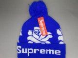Шапка supreme синяя. Фото 1.