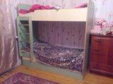 Кровать 2х ярусная длина 180 ширина 80 высота 173. Фото 1.