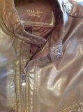 Zara куртка кожаная  italian 46-48 р. Фото 3.
