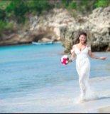 Белое платье в пол. Фото 4.