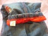 Джинсы для девочки утепленные. Фото 1.