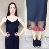 Платье-комбинация из итальянской 100% шерсти. Фото 1.