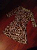 Платье леопардовое. Фото 1.