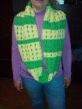 Новый вязаный шарф снуд. Фото 1.