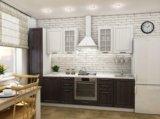 Кухня белое дерево/венге. Фото 1.