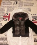 Куртка норка-чернобурка-кожа!!!. Фото 1.