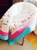 Детское одеяло ручной работы. Фото 1.