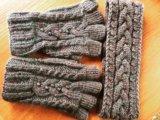 На заказ повязка и митенки. Фото 1.
