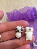 Серьги-панды)+подарок. Фото 3.
