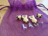 Серьги-панды)+подарок. Фото 2.