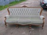 Антикварный диван рококо 19 век(испания). Фото 1.