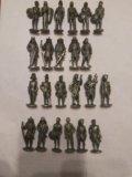 Солдатики киндер метал 23 штуки. Фото 1.