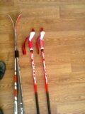 Лыжный комплект (лыжи, палки, ботинки, крепления). Фото 3.