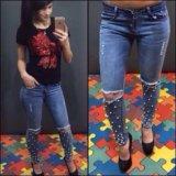 Джинсы женские (брюки штаны легинцы). Фото 1.