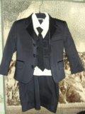 Костюм тройка с рубашкой и галстуком. Фото 1.