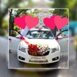 Свадебное украшения на машину. Фото 1.