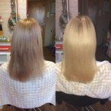 Кератиновое выпрямление и восстановление волос. Фото 1.