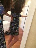 Платье синее. Фото 2.