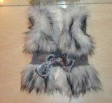 Детская одежда жилетка меховая. Фото 1.