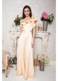 Вечернее длинное золотое платье. Фото 1.