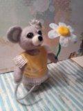 "Валяная игрушка ""мышка"". Фото 2."