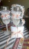 Новый свадебный набор бокалов. Фото 1.