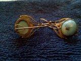 Серебряные серьги с бирюзой. Фото 2.
