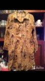 Пальто халат новый с поясом. Фото 1.
