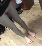 Кожаные штаны zara. Фото 2.