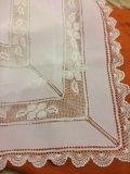 Скатерть белая испания 170:130. Фото 1.