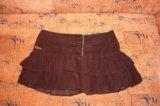 Велюровая юбка с рюшами. Фото 1.