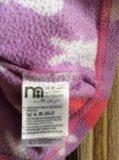 Теплая кофта mothercare для девочки флисовая. Фото 2.