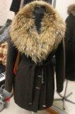 Зимнее пальто с шикарным натуральным мехом новое. Фото 2.