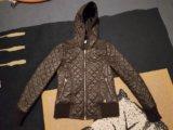 Куртка adidas синтепон с капюшоном. Фото 1.