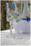 Свечи и фужеры на свадьбу. Фото 4.
