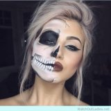 Макияж на хеллоуин, вечерний дневной pin up макияж. Фото 1.