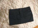 Новая джинсовая миниюбка фирмы oggi. Фото 1.