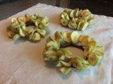 Украшение венок засахаренные яблоки. Фото 2.