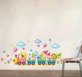 Интерьерные наклейки в детскую,паровоз,цена смех. Фото 1.