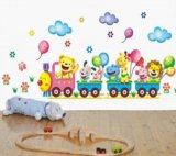 Интерьерные наклейки в детскую,паровоз,цена смех. Фото 4.