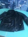 Кожаная куртка новая. Фото 2.
