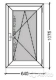 Окно rehau blitz с микропроветриванием 640x1075. Фото 1.