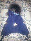 Новая детская шапочка зимняя. Фото 1.