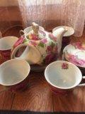 Тарелки, плошки,чайный набор,хрусталь. Фото 3.