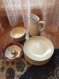 Тарелки, плошки,чайный набор,хрусталь. Фото 1.