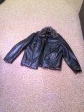 Кожаная мужская куртка. Фото 1.