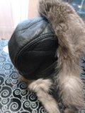 Мужская зимняя шапка из чернобурки. Фото 2.