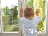 Защита, новый детский блокиратор на окно, замокbsl. Фото 1.